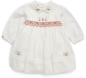 Sarah Louise Flower Embroidered Dress (3-24 Months)