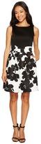 Tahari by Arthur S. Levine Petite Jacquard Skirt Fit and Flare Dress Women's Dress
