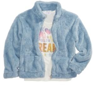 Beautees Big Girls 2-Pc. Fleece Jacket & Unicorn Tank Top Set