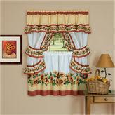 Asstd National Brand Black Eyed Susan 3-pc. Rod-Pocket Kitchen Curtain Set
