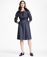 Brooks Brothers Washed Chambray Shirt Dress