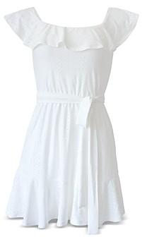 BCBGeneration Off-the-Shoulder Flounced Dress