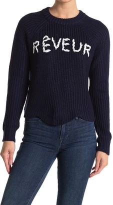 Lush Scallop Hem Graphic Sweater