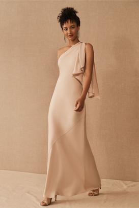 BHLDN Montague One-Shoulder Satin Dress