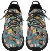 Angelinana Angelinan Custom Peanuts Movie Women's Breatheable Woven Fashion Running Shoes
