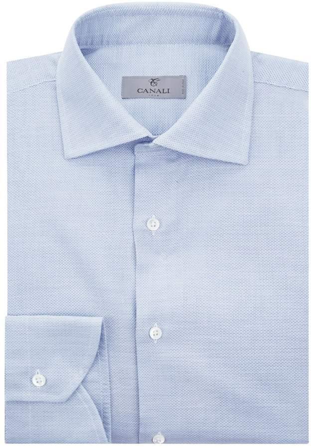 Canali Micro Mesh Cotton Shirt