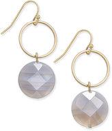 INC International Concepts Gold-Tone Semi-Precious Hoop Drop Earrings, Only at Macy's