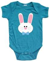 Apericots Cute Baby Boy Easter Bunny Spring Short Sleeve Soft Cotton Bodysuit