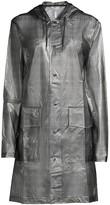 Rains Hooded Check Coat