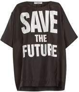 Katharine Hamnett Save the Future print silk T-shirt