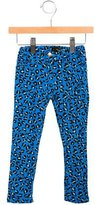 Mini Rodini Girls' Leopard Print Straight-Leg Jeans