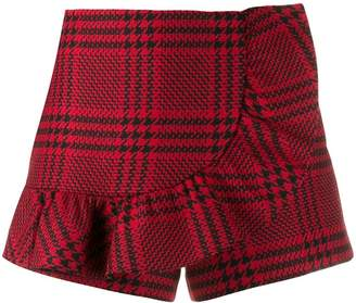 RED Valentino houndstooth check shorts