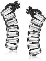 """ABS by Allen Schwartz Black Magic"""" Stone Climber Earrings"""