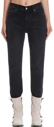 Acne Studios Malk Used Jeans In Black Denim