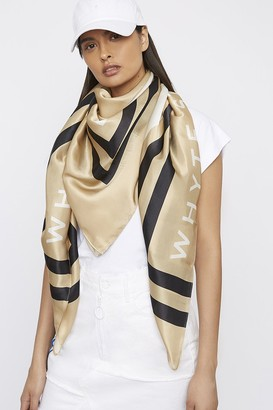 """Whyte Studio The """"High-Side"""" Large Silk Scarf"""