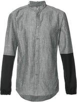 Public School mandarin neck bicolour shirt - men - Cotton/Linen/Flax/Polyester - 1