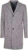 Tagliatore Check Single Breasted Coat