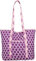 Masala Quilted Totebag Medallion - Purple-One Size