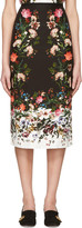 Erdem Black Maria Convertine Rose Skirt