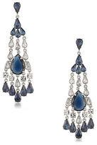 Carolee Silvertone Statement Chandelier Earrings