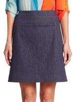 Akris Punto Denim Sailor Skirt