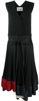 Jil Sander Pleated Two-Piece Dress
