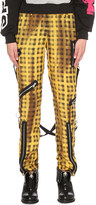 Moschino Checked silk trousers
