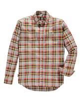 Le Breve Mostaza Multi Check Shirt