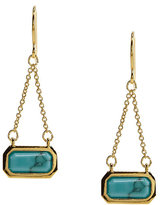 Lauren Ralph Lauren Cushion Stone with Chain Drop Earrings