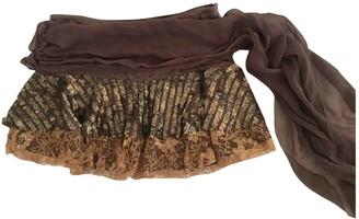 Pinko Brown Silk Skirt for Women
