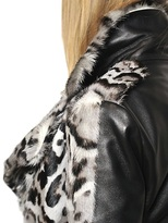 Christopher Kane Leopard Print Ponyskin And Nappa Jacket