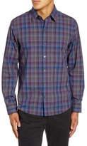 Zachary Prell Kong Regular Fit Plaid Button-Up Shirt