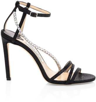 Jimmy Choo Thaia Crystal Glitter Sandals
