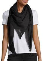 Saint Laurent Dot-Print Cashmere & Silk Scarf