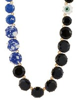 Les Nereides Special La Diamantine Marbled And Glittered Stones Long Necklace.