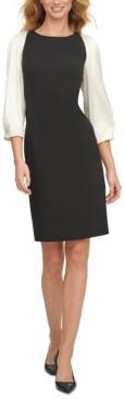 DKNY Puff-Sleeve Sheath Dress