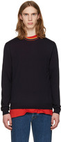 Paul Smith Navy Striped Collar Pullover