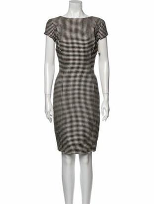 Ralph Lauren Houndstooth Print Knee-Length Dress w/ Tags Black