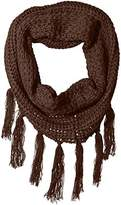 La Fiorentina Women's Chunky Eternity Scarf with Fringe