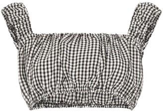 Solid & Striped off-shoulder gingham top
