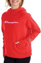 Champion Women's Powerblend Fleece Pullover Hoodie with Applique