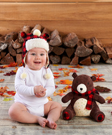 Baby Aspen Pierre the Bear Plush Hat & Toy - Infant