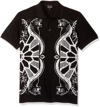Just Cavalli Mens Graphic Polo Tee