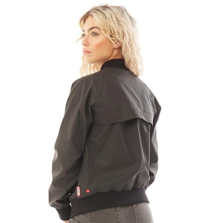 Thumbnail for your product : Hunter Womens Original Rubberised Bomber Jacket Black