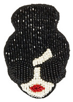 Alice + Olivia Stace Face Embroidered Brooch