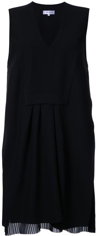 Carven v-neck gathered shift dress