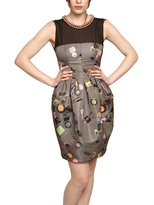 Moschino Cheap & Chic Moschino Cheap&chic - Pearl Necklace Printed Duchesse Dress