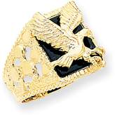 Ice 14k Men's Onyx Eagle Ring
