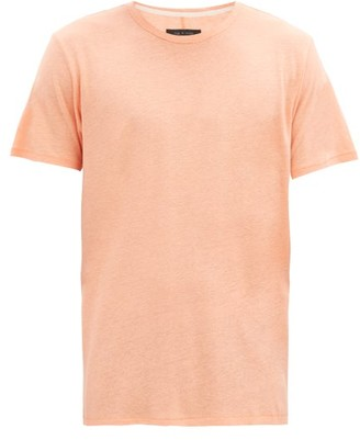 Rag & Bone Air Linen-blend Jersey T-shirt - Light Orange