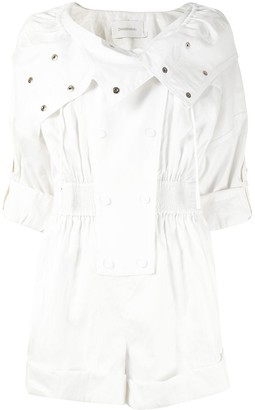 Zimmermann Double-Breasted Playsuit